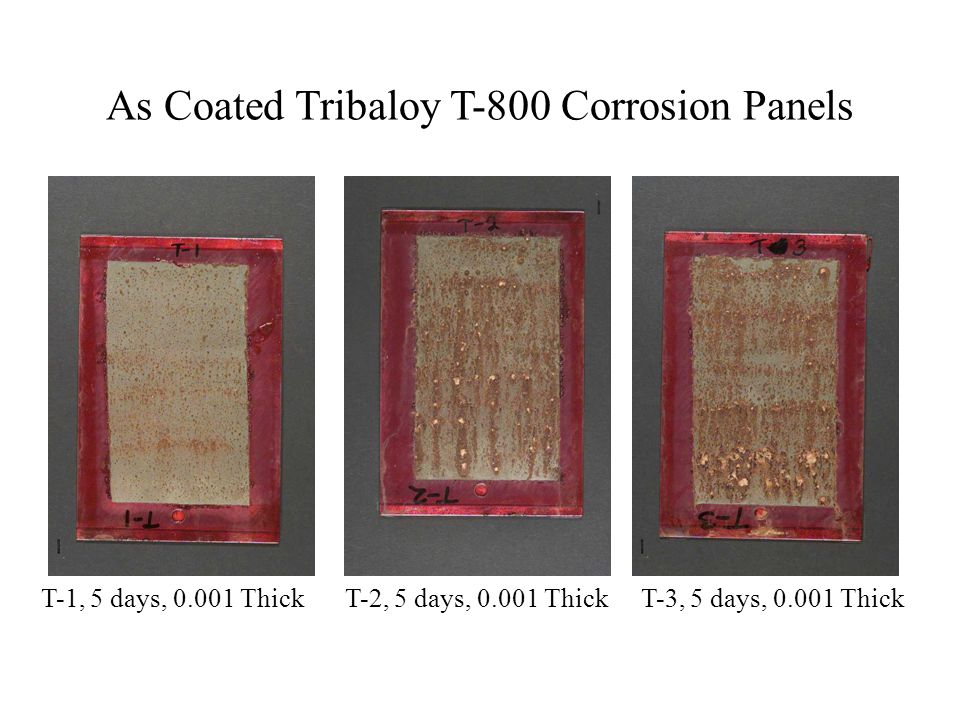 As Coated Tribaloy T-800 Corrosion Panels