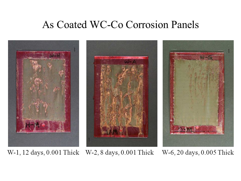As Coated WC-Co Corrosion Panels
