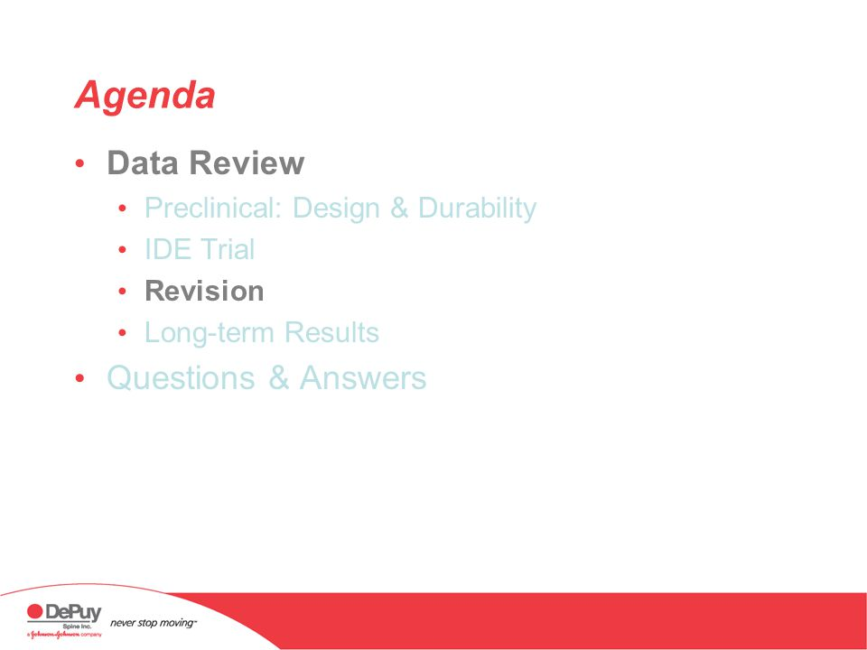 Agenda Data Review Questions & Answers