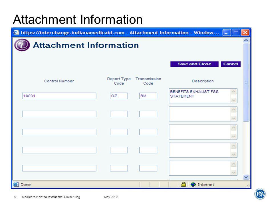 Attachment Information