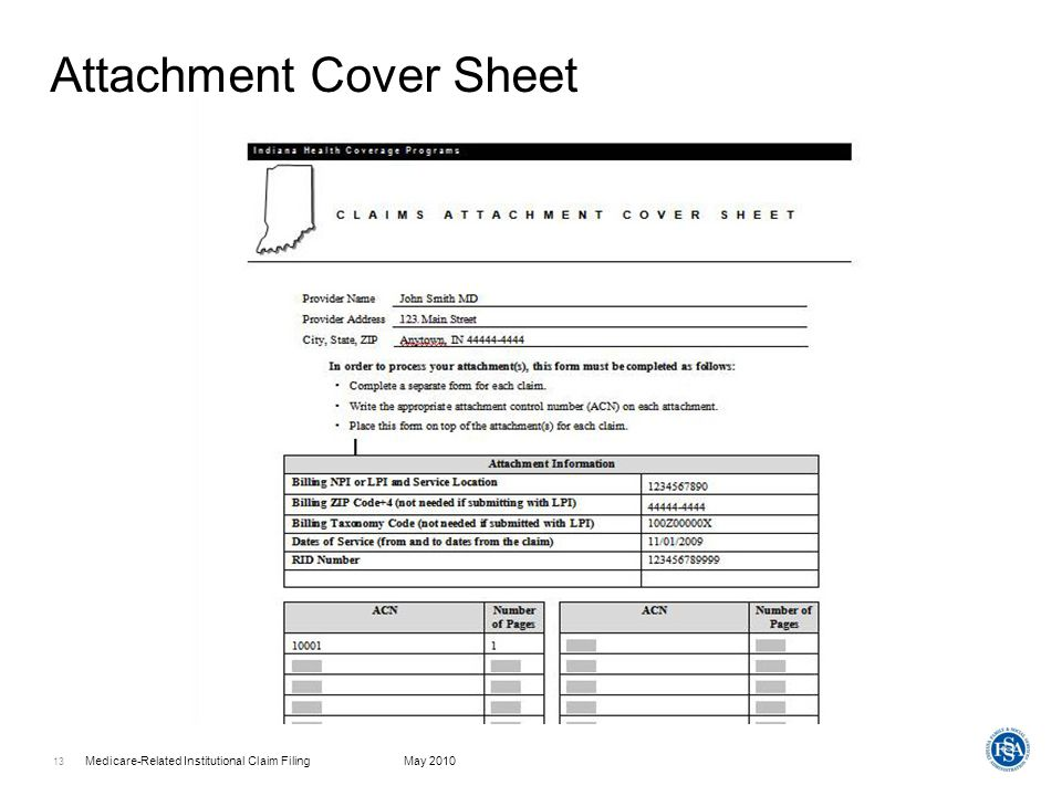 Attachment Cover Sheet