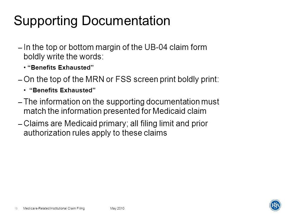 Medicare-Related Institutional Claim Filing - Ppt Download
