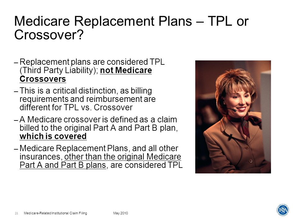 Medicare Replacement Plans – TPL or Crossover