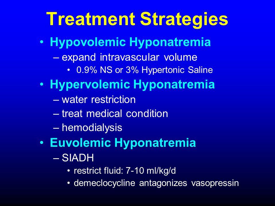 Treatment Strategies Hypovolemic Hyponatremia