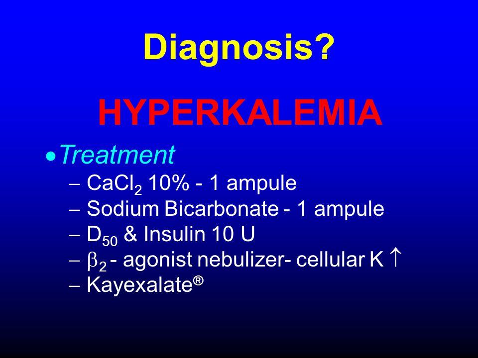 Diagnosis HYPERKALEMIA