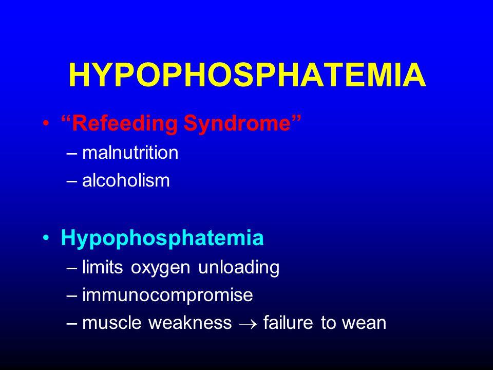 HYPOPHOSPHATEMIA Refeeding Syndrome Hypophosphatemia malnutrition