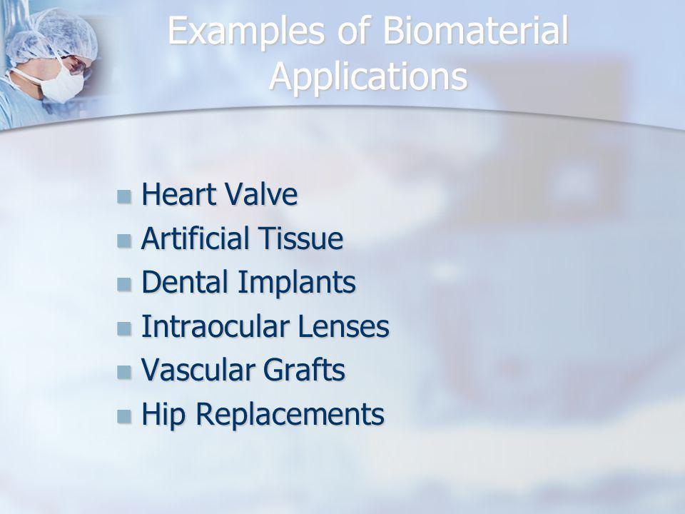 Examples of Biomaterial Applications