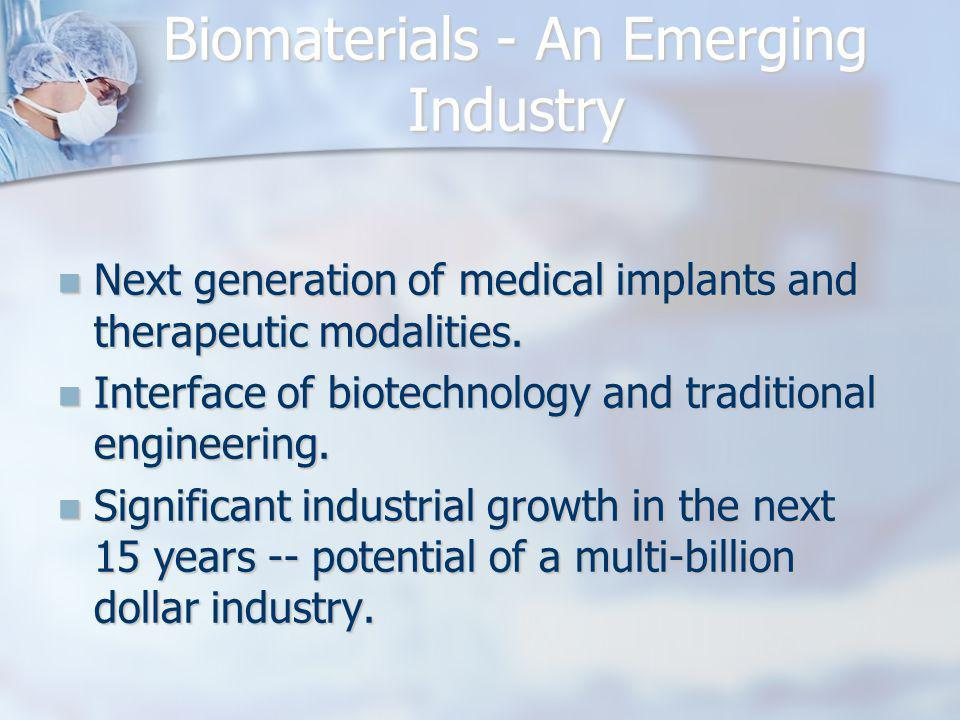 Biomaterials - An Emerging Industry
