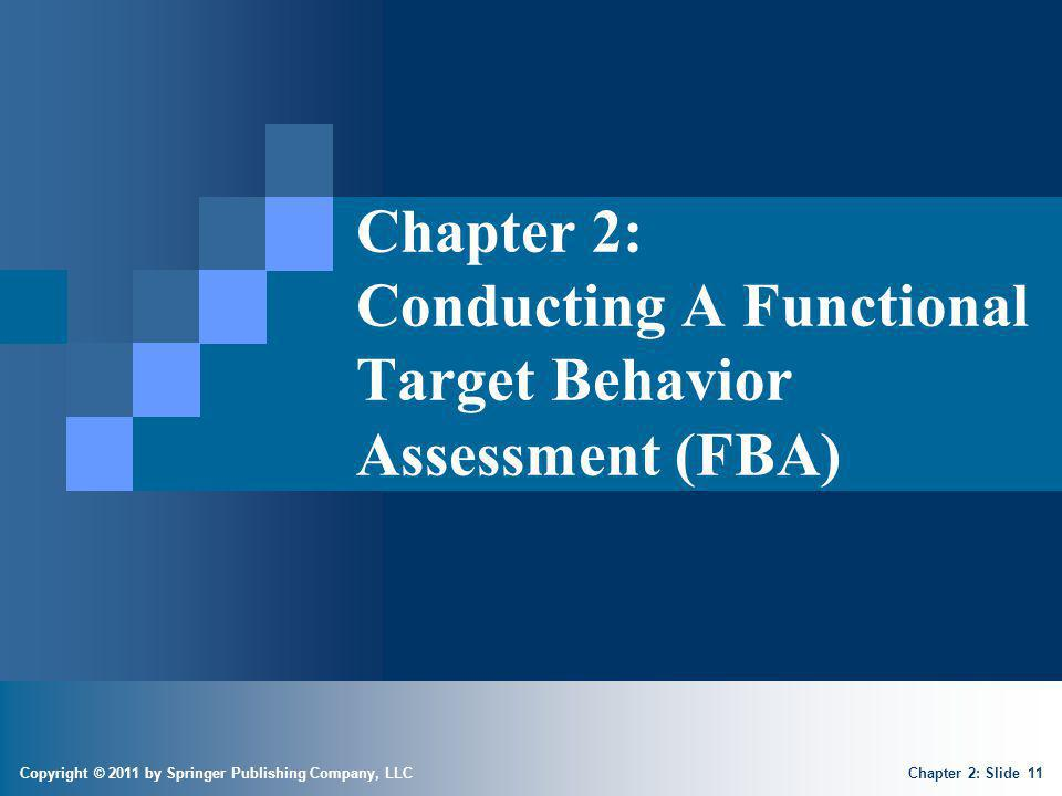 Conducting a Functional Target Behavior Assessment (FBA)