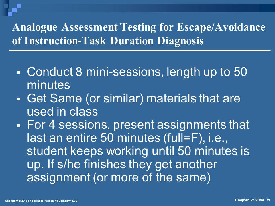 4/1/2017 Analogue Assessment Testing for Escape/Avoidance of Instruction-Task Duration Diagnosis (continued)