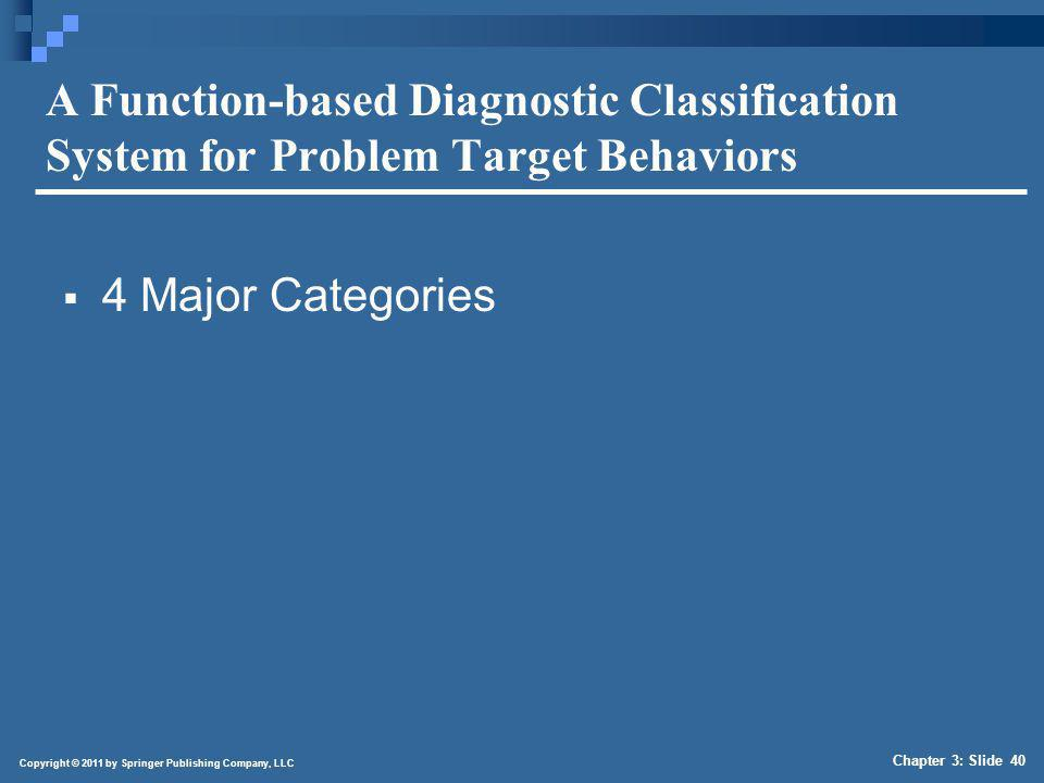 Characteristics of Function-Based Classification System