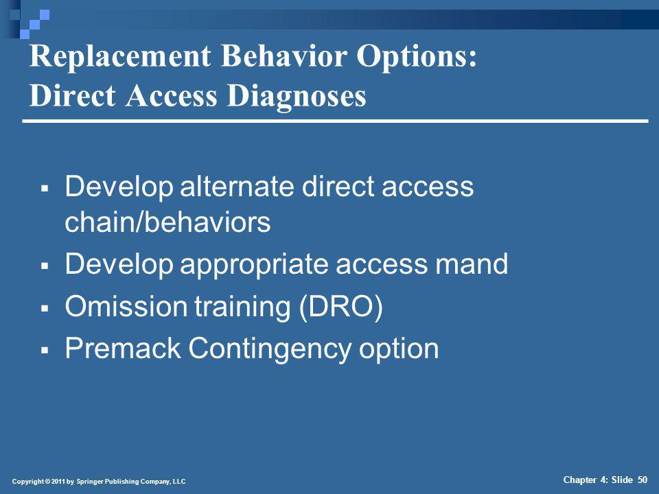 Replacement Behavior Options: Socially Mediated Access Diagnoses