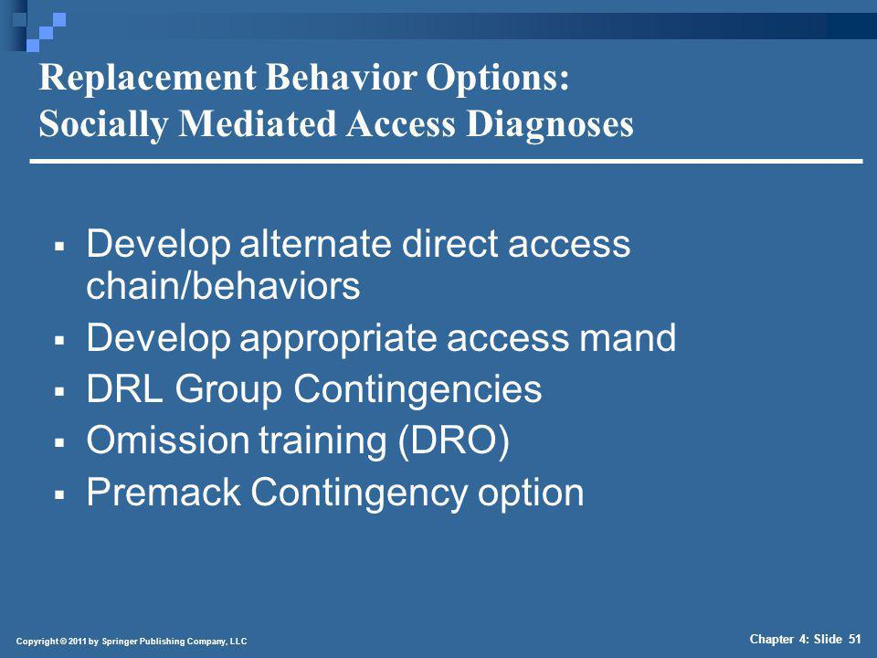 Replacement Behavior Options: Direct Escape Diagnoses