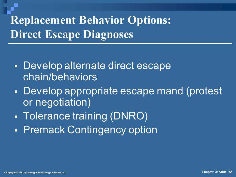 Replacement Behavior Options: Socially Mediated Escape Diagnoses