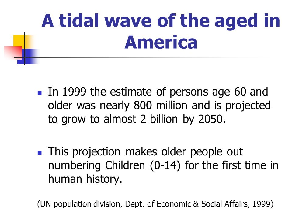 A tidal wave of the aged in America
