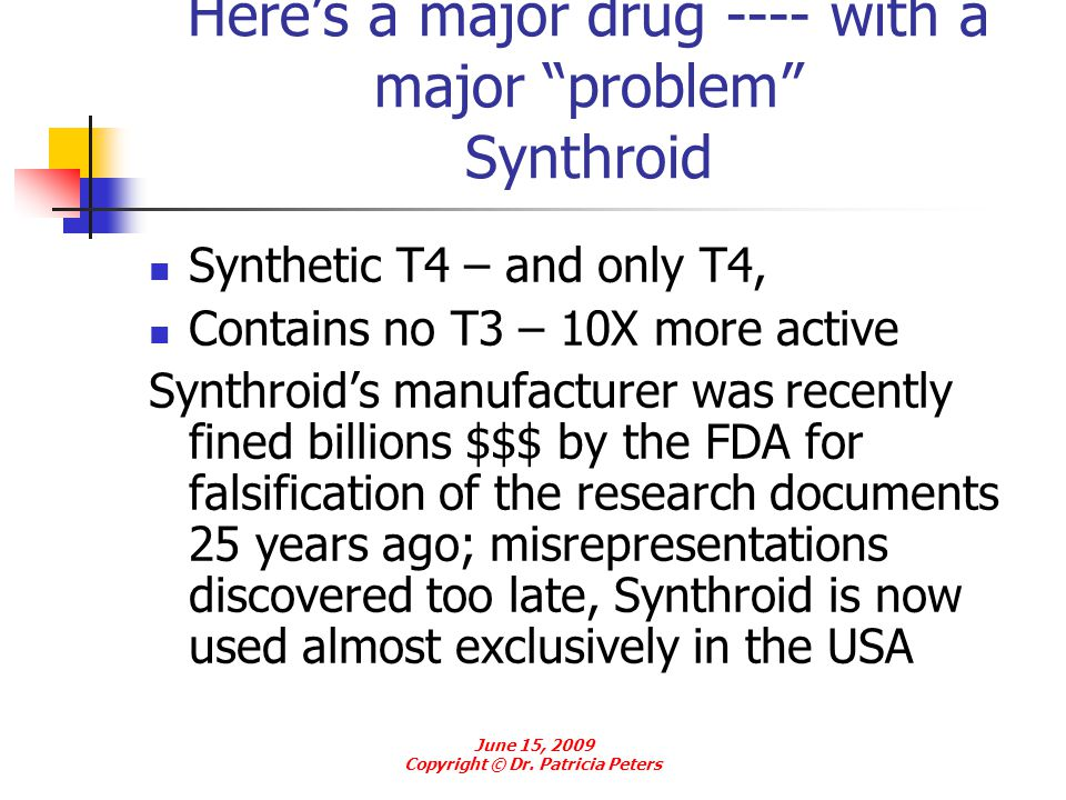 Here's a major drug ---- with a major problem Synthroid