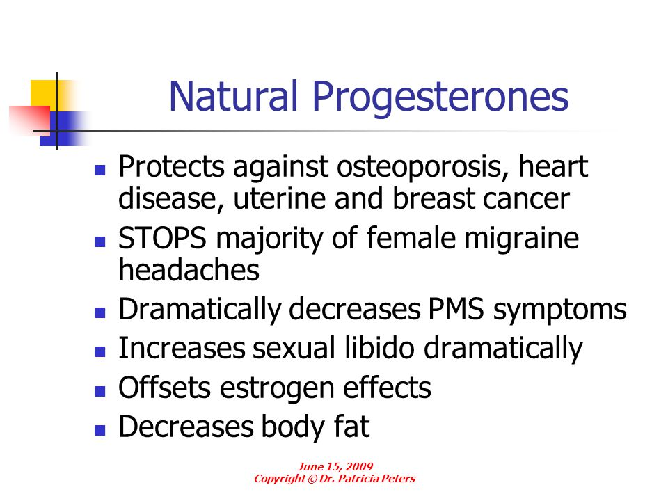 Natural Progesterones