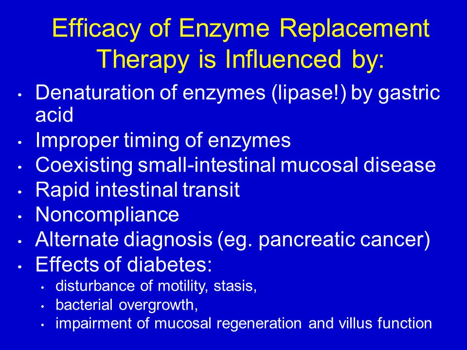 Efficacy of Enzyme Replacement Therapy is Influenced by: