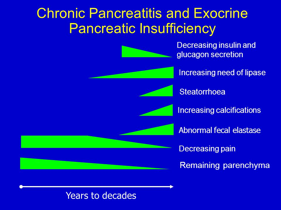 Chronic Pancreatitis and Exocrine Pancreatic Insufficiency