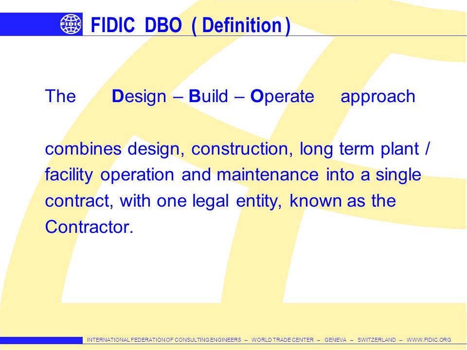 FIDIC DBO ( Definition )