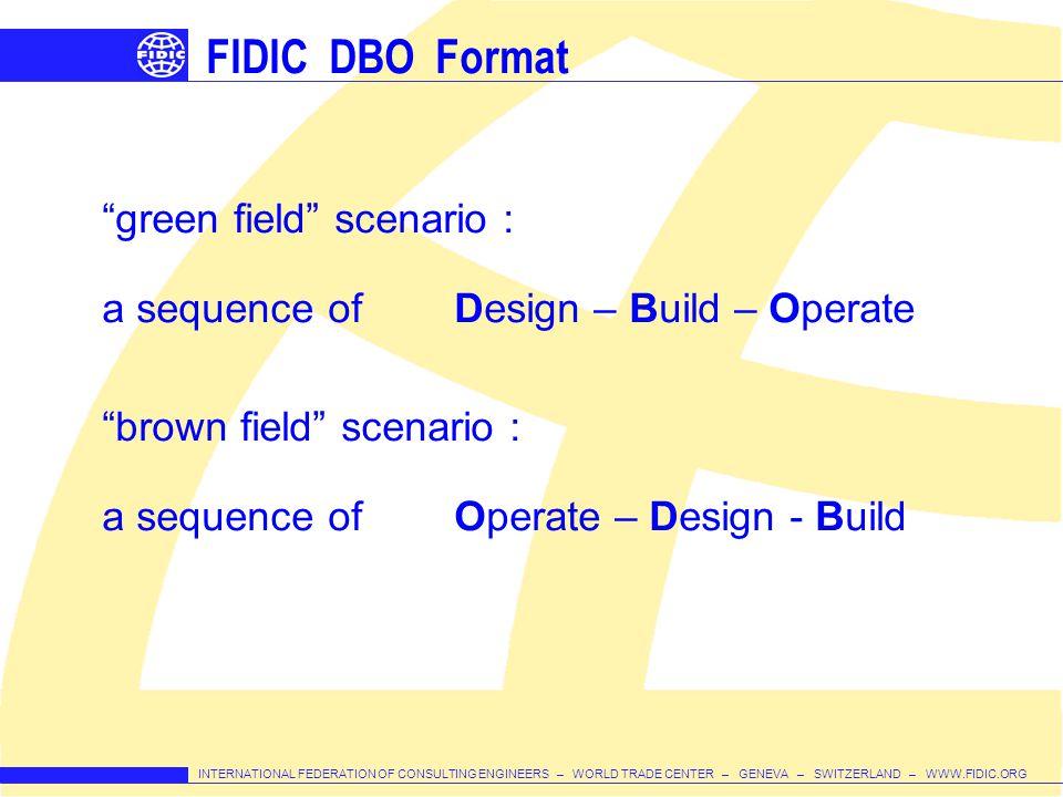 FIDIC DBO Format green field scenario :