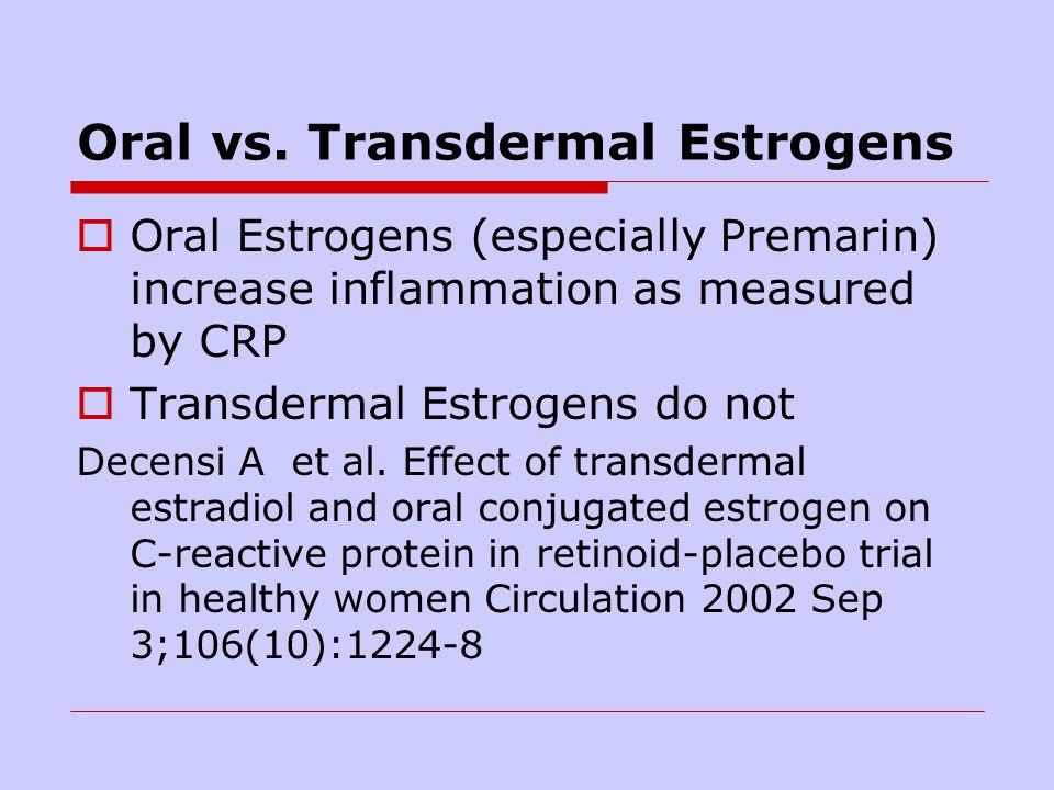 Oral vs. Transdermal Estrogens