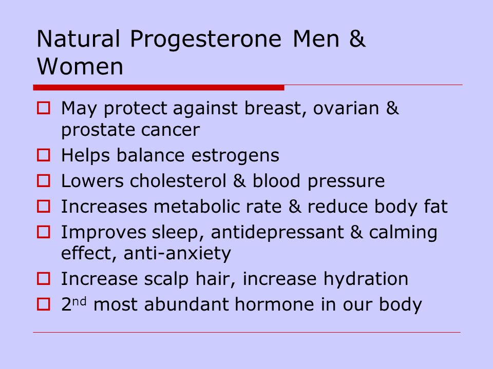 Natural Progesterone Men & Women