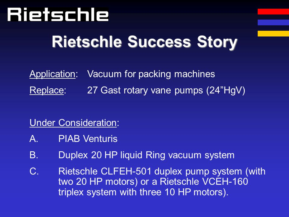 Rietschle Success Story
