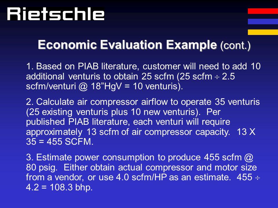 Economic Evaluation Example (cont.)
