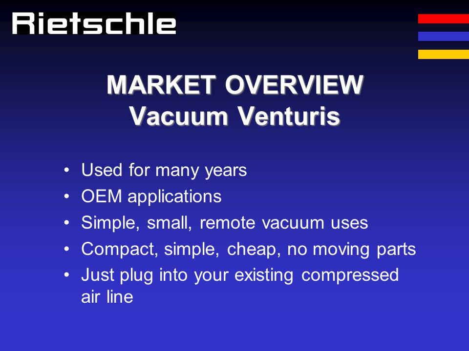 MARKET OVERVIEW Vacuum Venturis