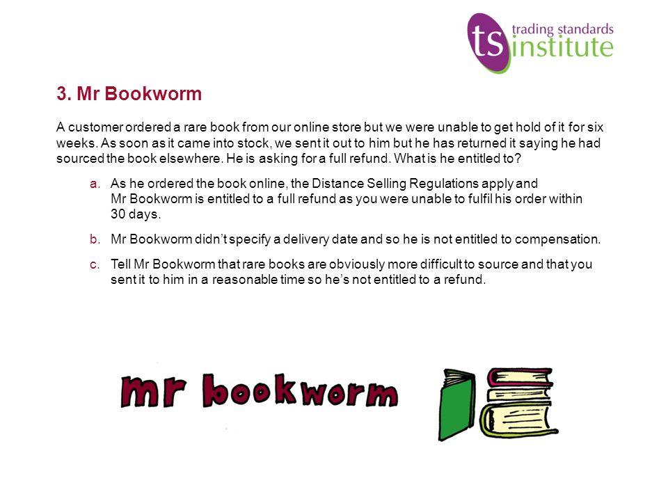 3. Mr Bookworm