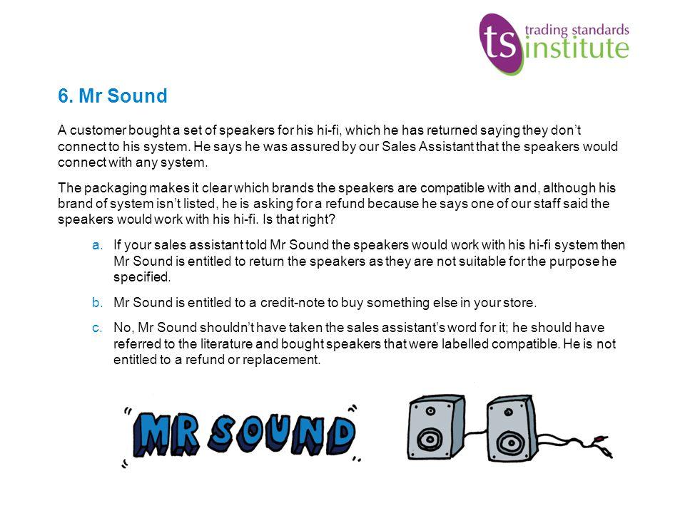 6. Mr Sound