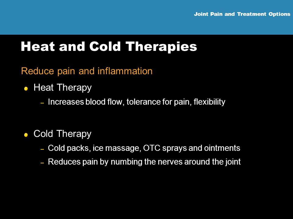 Heat and Cold Therapies