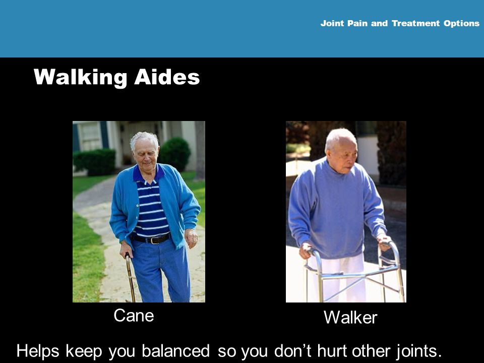 Helps keep you balanced so you don't hurt other joints.