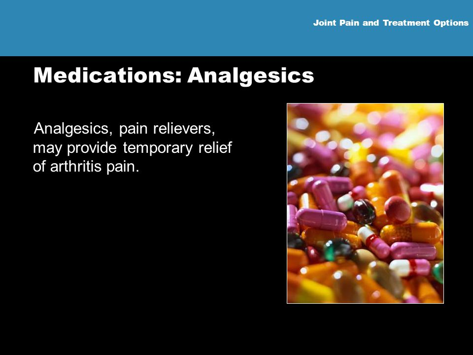 Medications: Analgesics