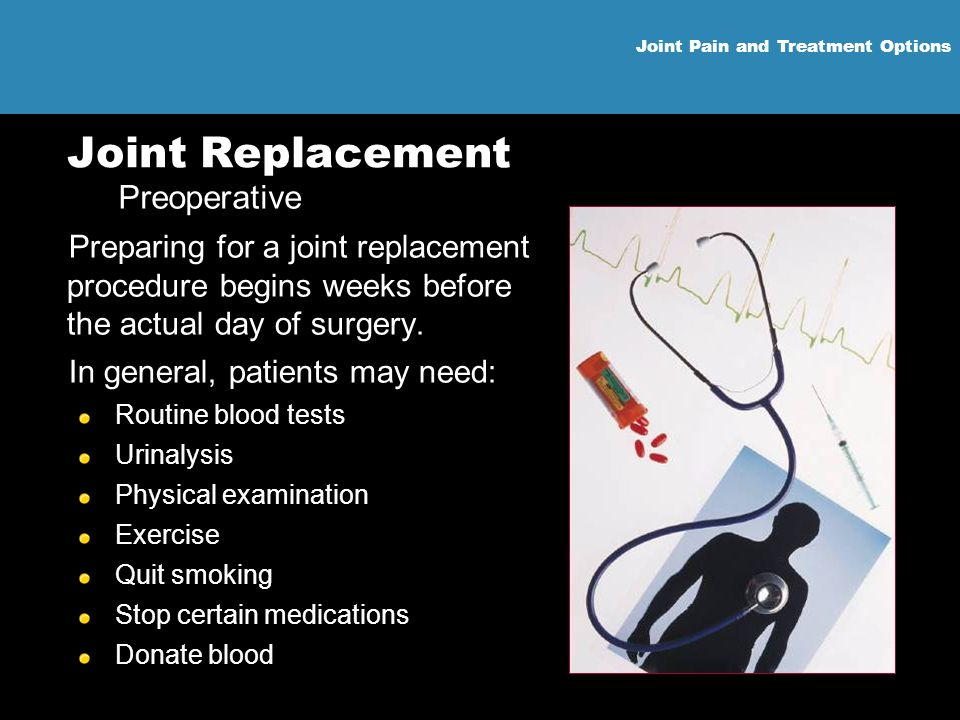 Joint Replacement Preoperative