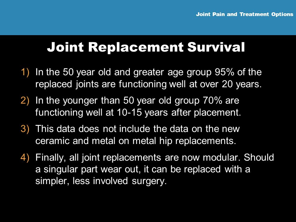 Joint Replacement Survival