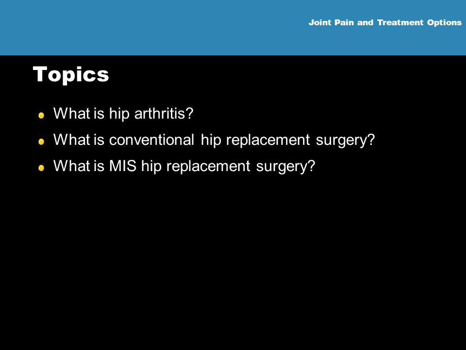 Topics What is hip arthritis