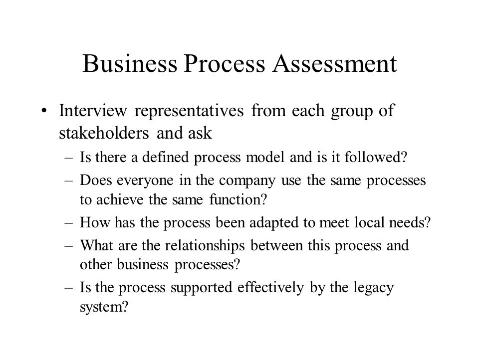 Business Process Assessment