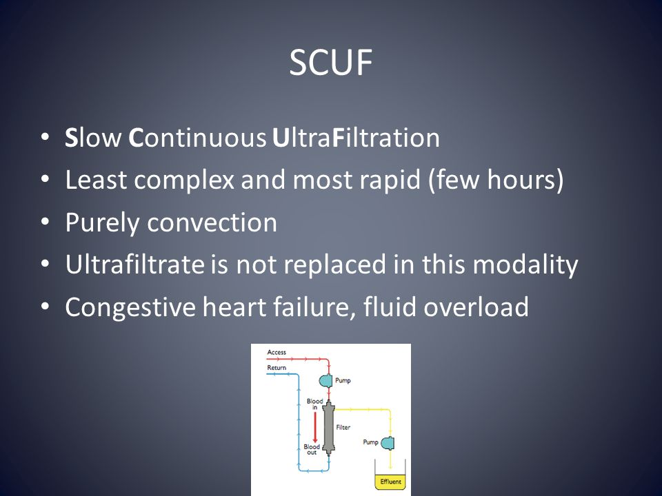 SCUF Slow Continuous UltraFiltration