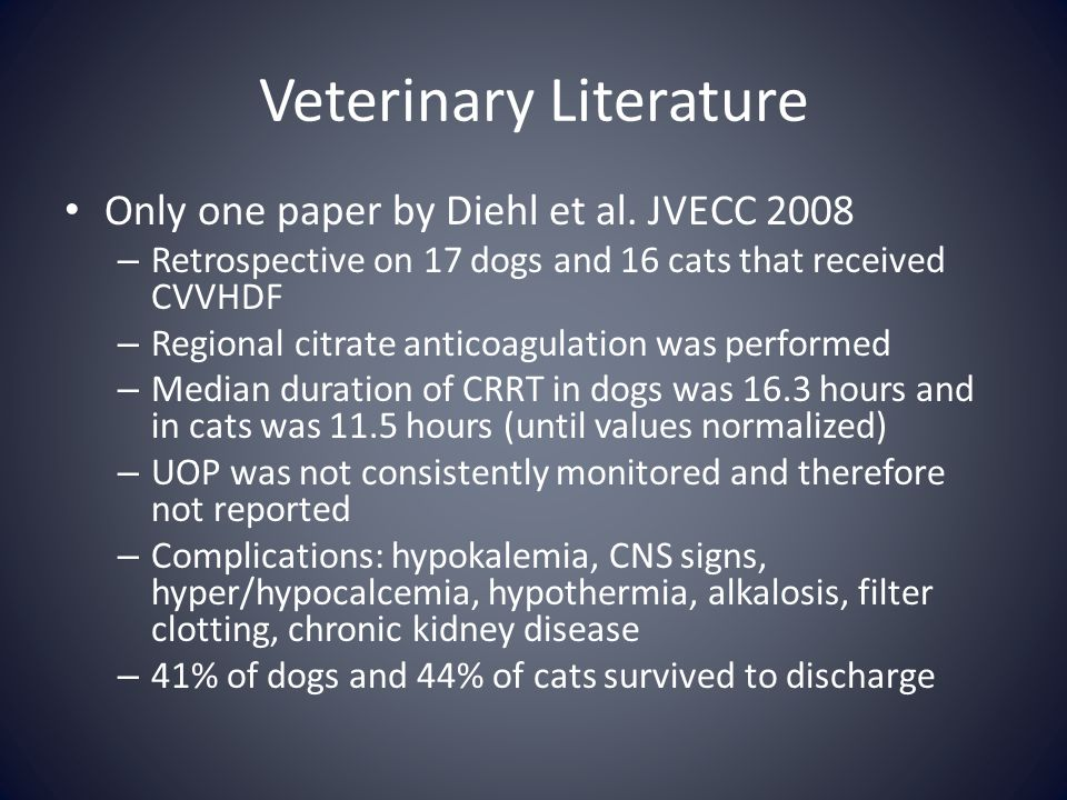 Veterinary Literature