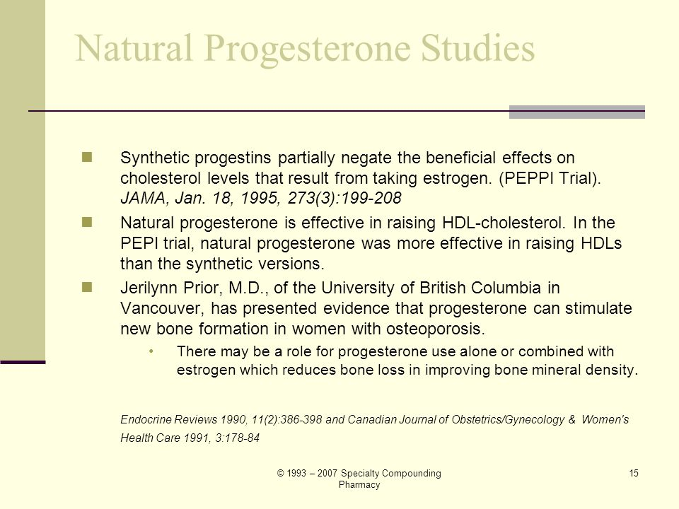 Natural Progesterone Studies