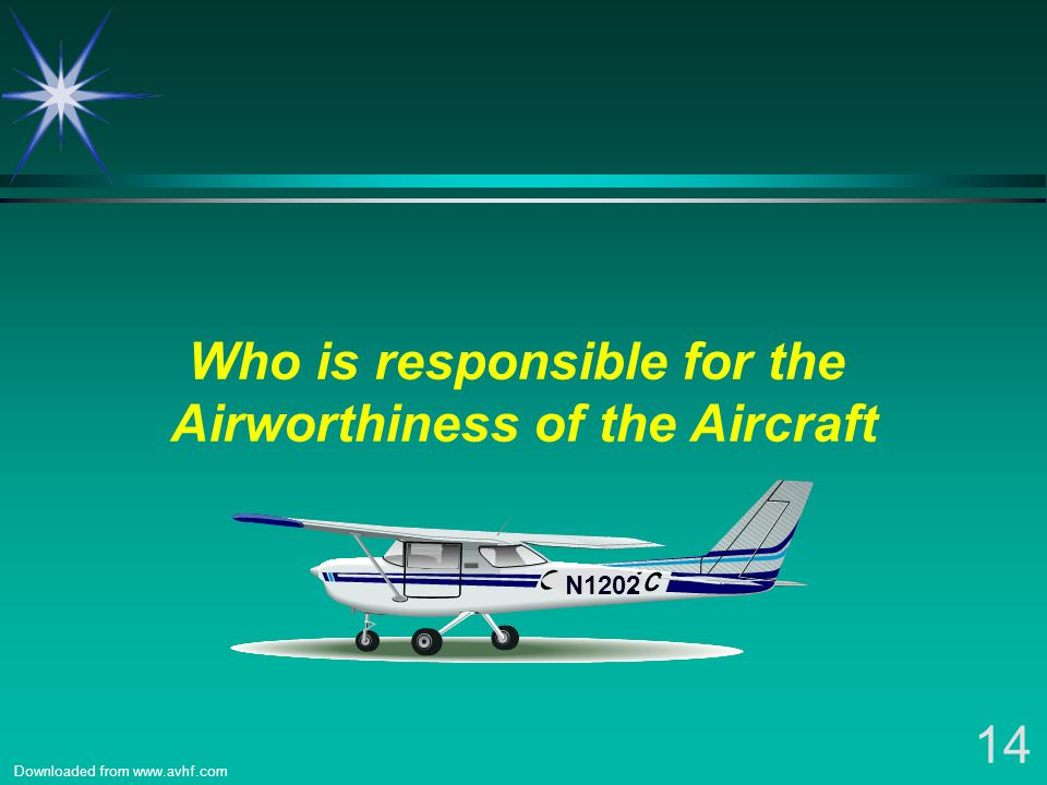Who is responsible for the Airworthiness of the Aircraft