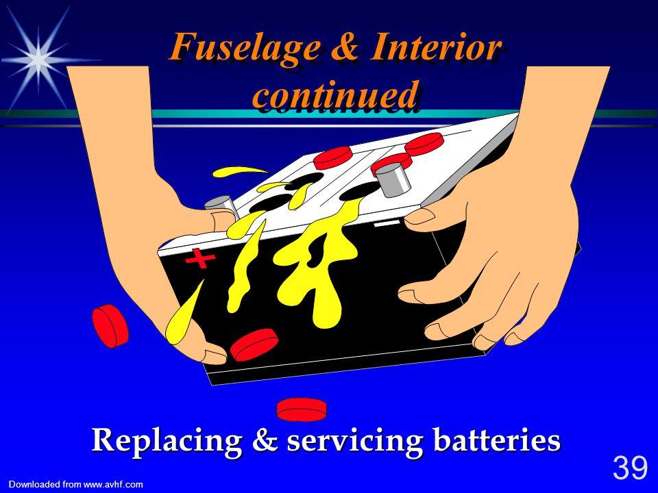 Fuselage & Interior continued