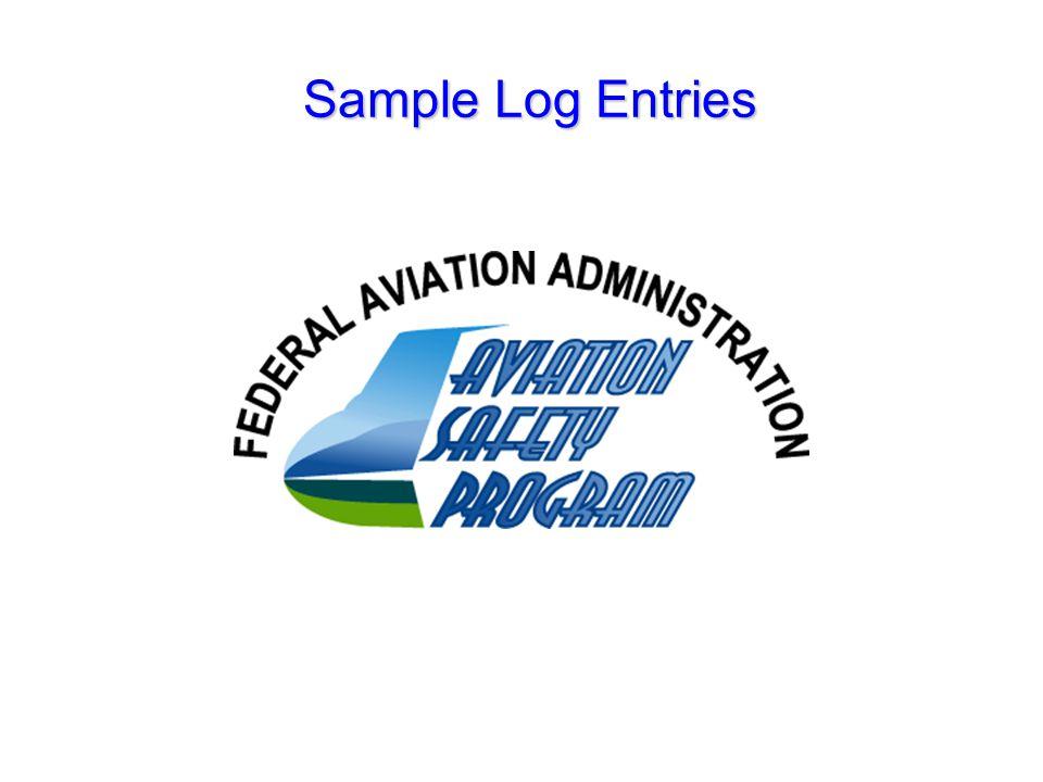 Sample Log Entries