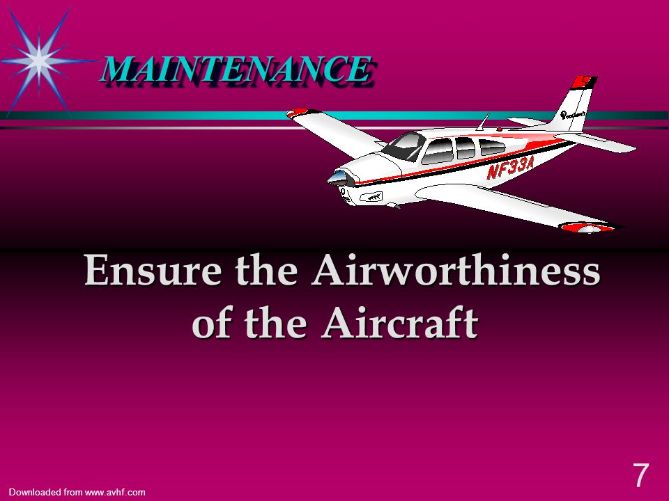 Ensure the Airworthiness of the Aircraft