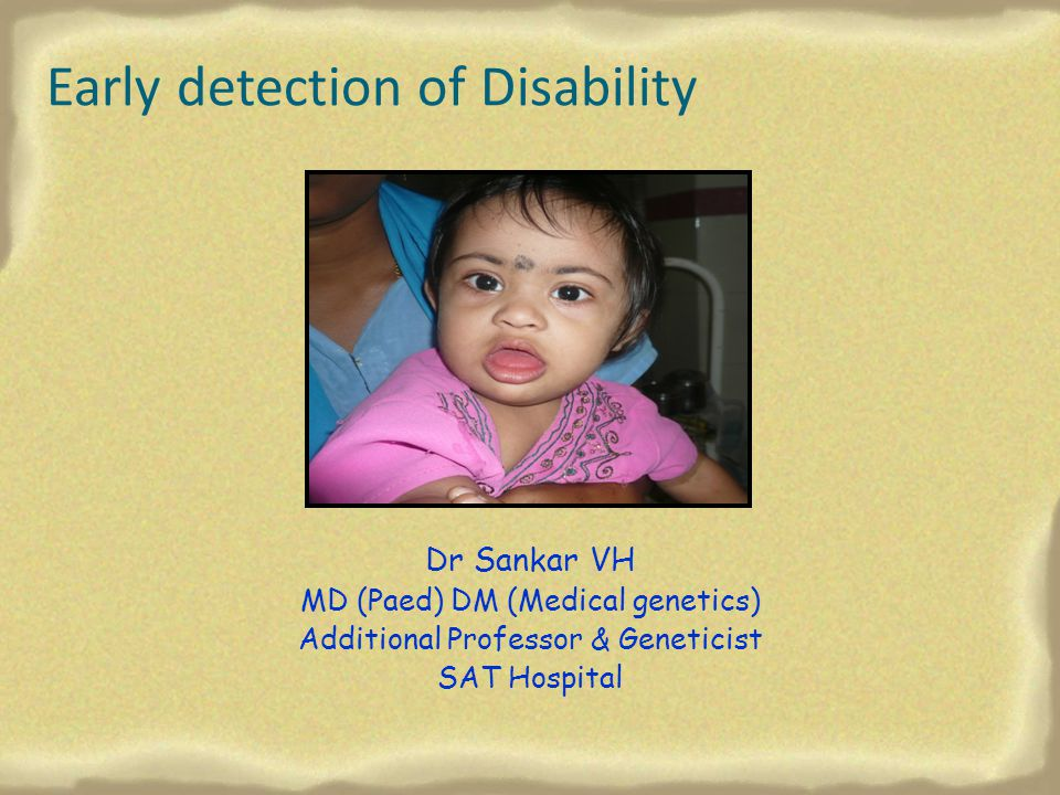 Early detection of Disability