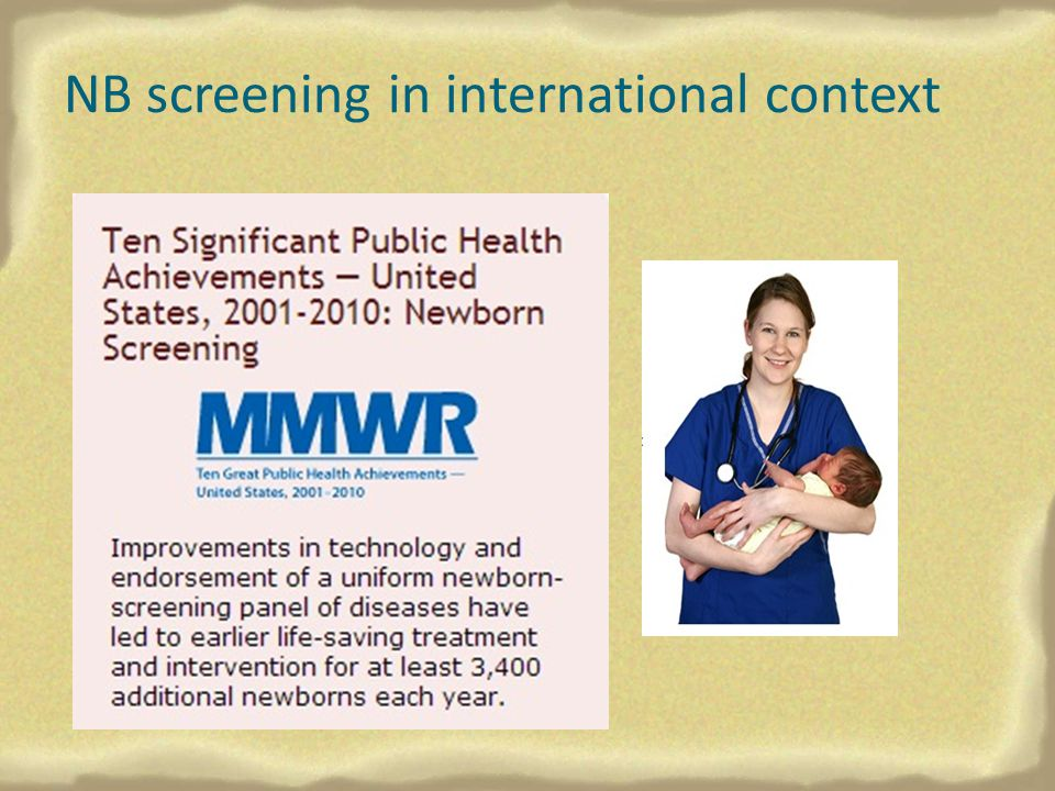 NB screening in international context