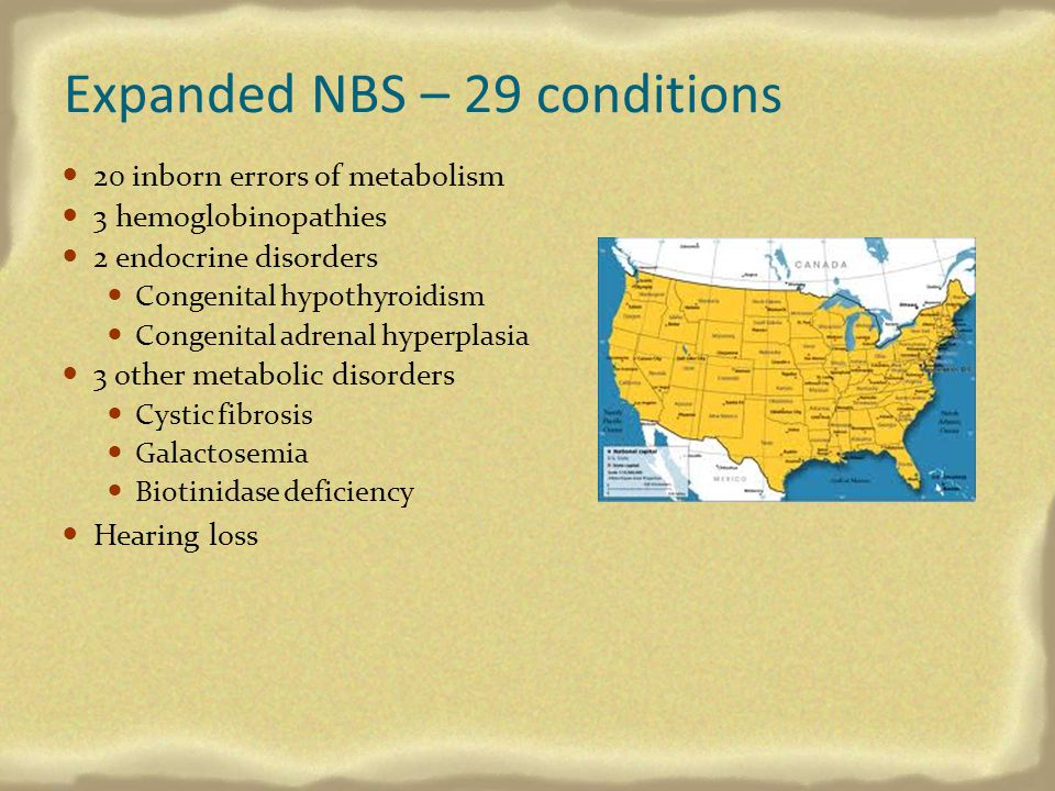 Expanded NBS – 29 conditions