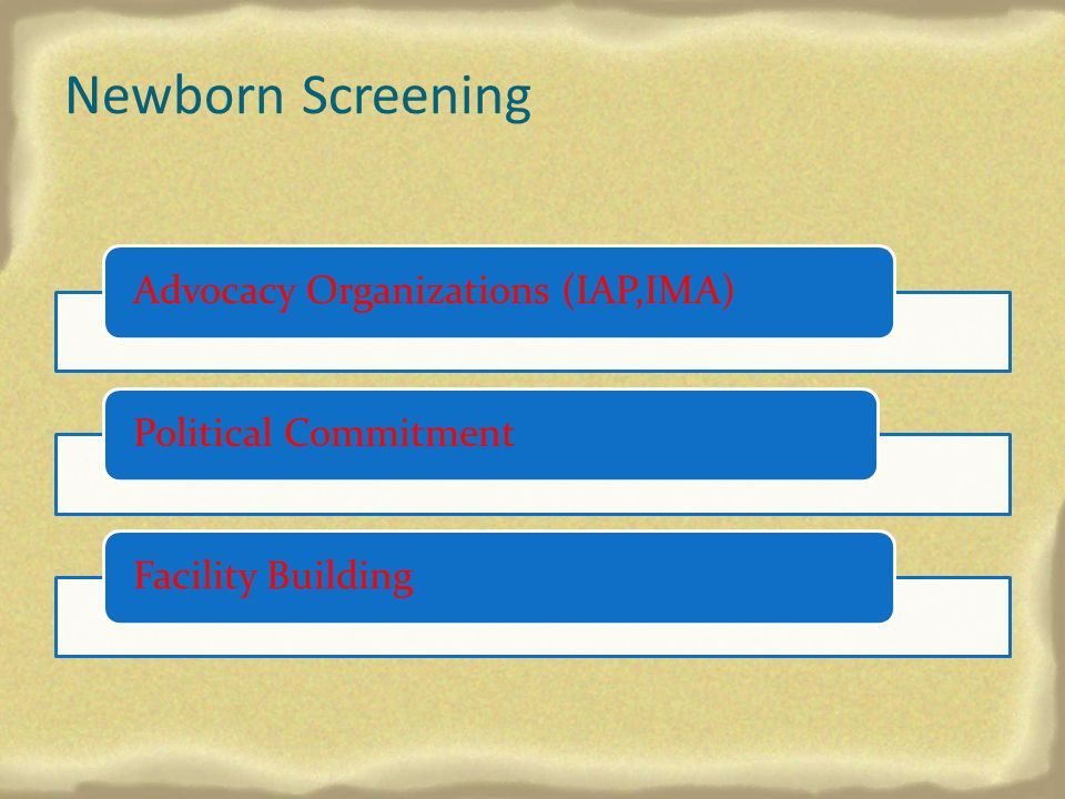 Newborn Screening Advocacy Organizations (IAP,IMA)